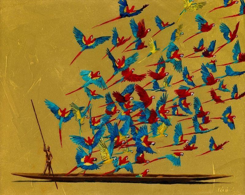 Pedro Ruiz 1957 Conceptual Painter Colombian Art Art Graphic Artwork