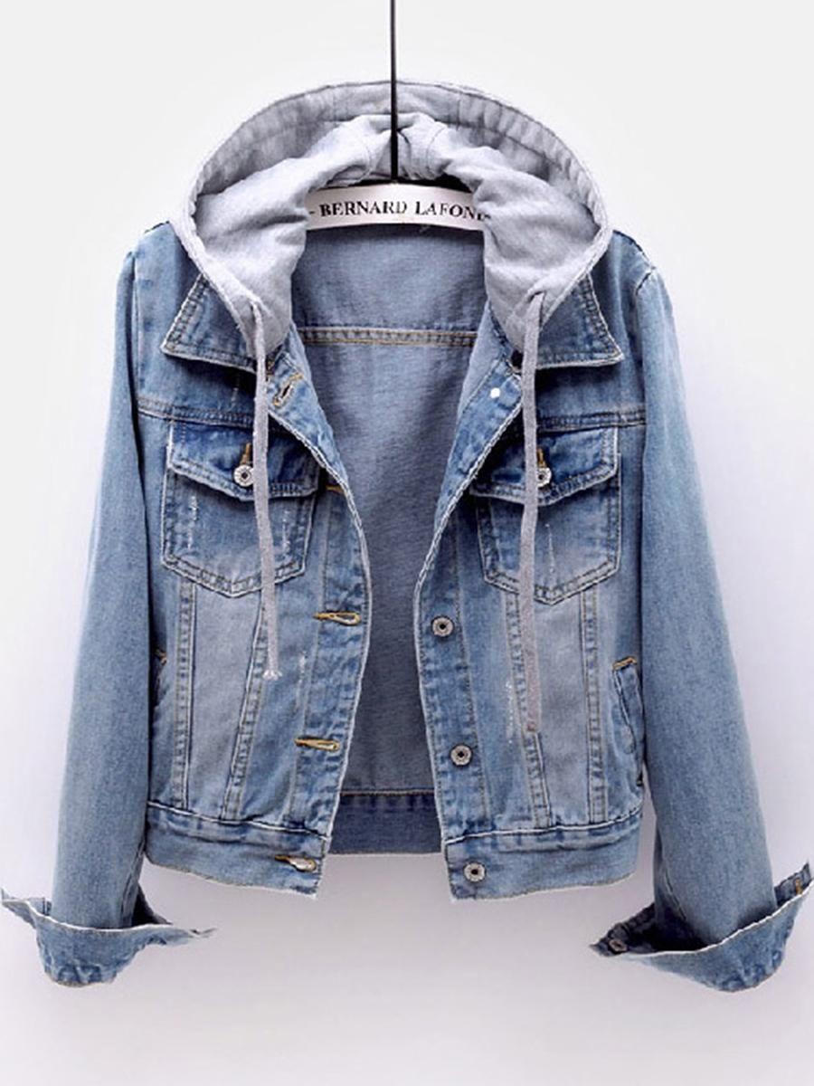 Berrylook Womens Berrylook Hooded Two Way Light Wash Jacket Envywe Com Denim Jacket With Hoodie Denim Jacket Women Hooded Denim Jacket [ 1200 x 900 Pixel ]
