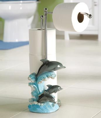Dolphin Toilet Paper Holder Dolphin Decor Toilet Paper Holder Stand