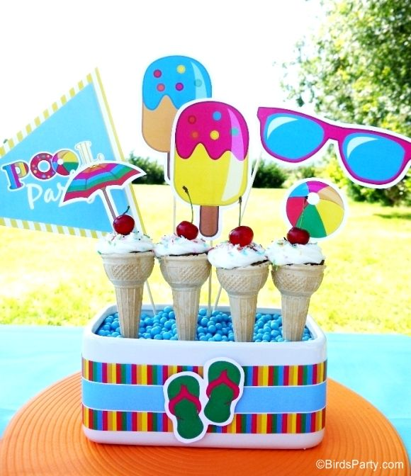 Pool Party Ideas Kids pool birthday party ideas with printables Pool Birthday Party Ideas With Printables