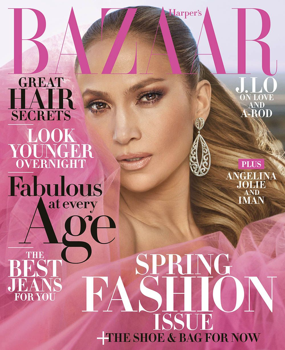 Jennifer Lopez Covers Harpers Bazaar Us April 2018 By
