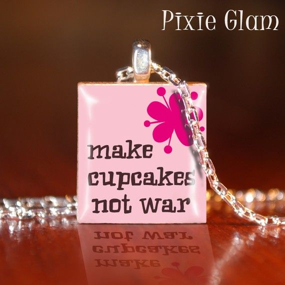 Scrabble tile pendant necklace c make cupcakes not war scrabble tile pendant necklace c make cupcakes not war aloadofball Image collections