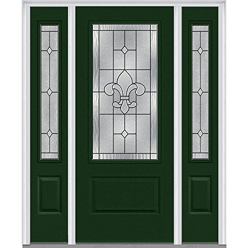 National Door Company Z008054l Fiberglass Prehung In Swin Glass Decor Oak Exterior Doors Steel Doors Exterior