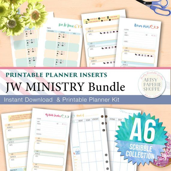 JW Ministry Planner Insert Bundle - Scribble Collection