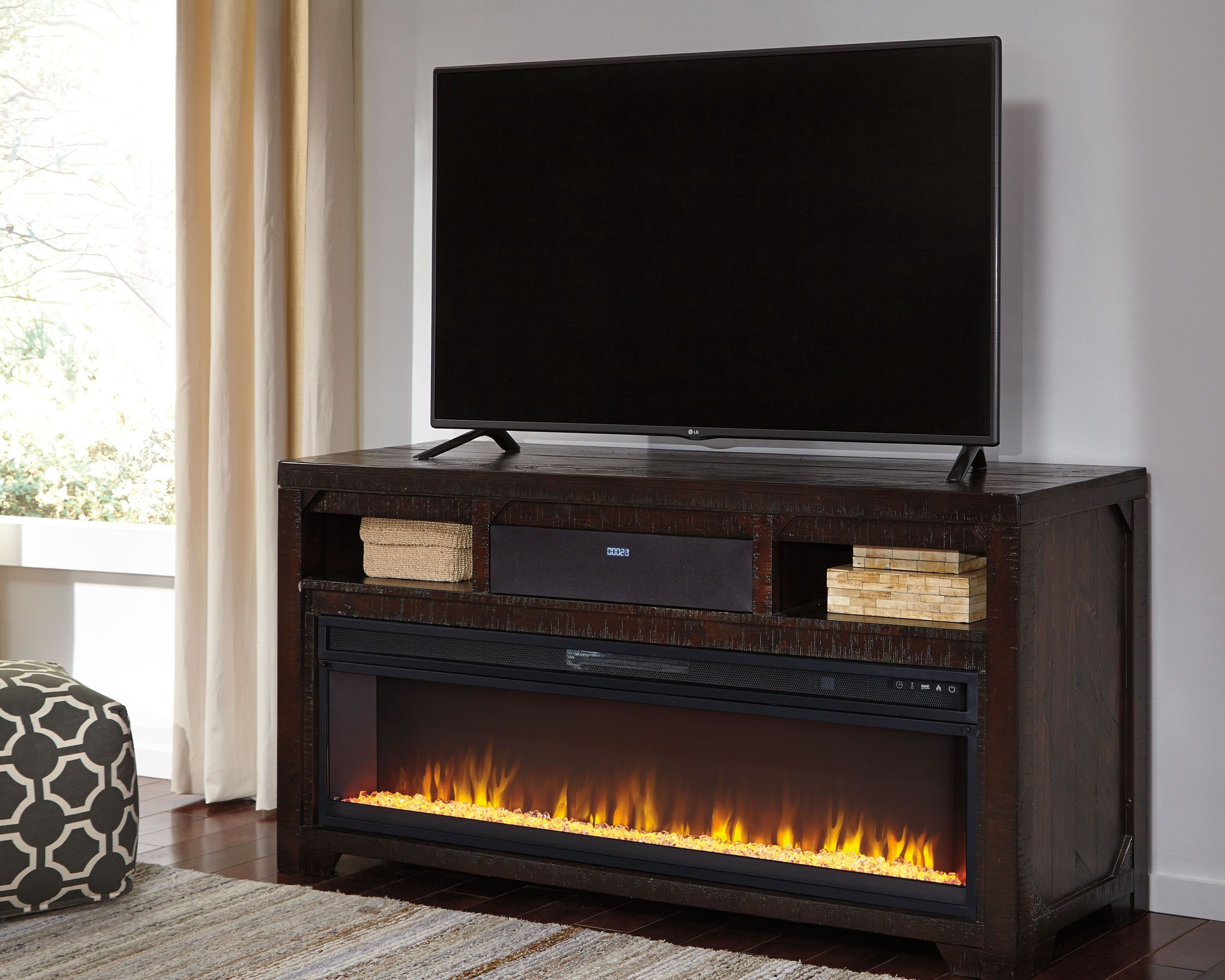 Rogness 63 Quot Tv Stand With Fireplace Amp Wireless Pairing