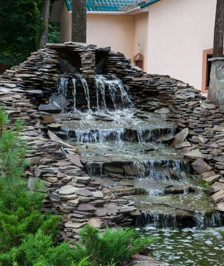 57 Garden Water Feature Designs Slate Stone Water