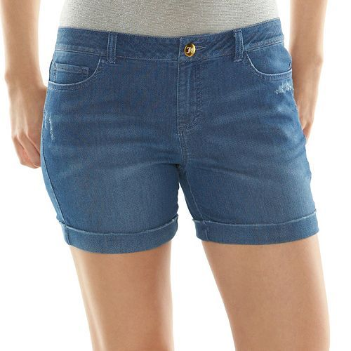 9714dfcddd Juicy Couture Cuffed Knit Jean Shorts - Women s