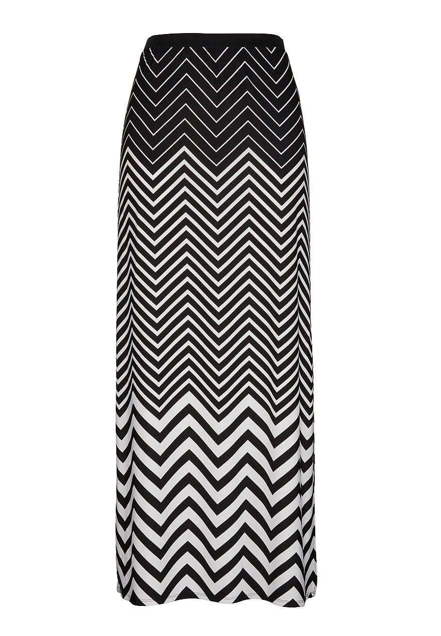 be9b97529 Chevron print pull on maxi skirt | My-Maurices | Fashion, Fashion ...