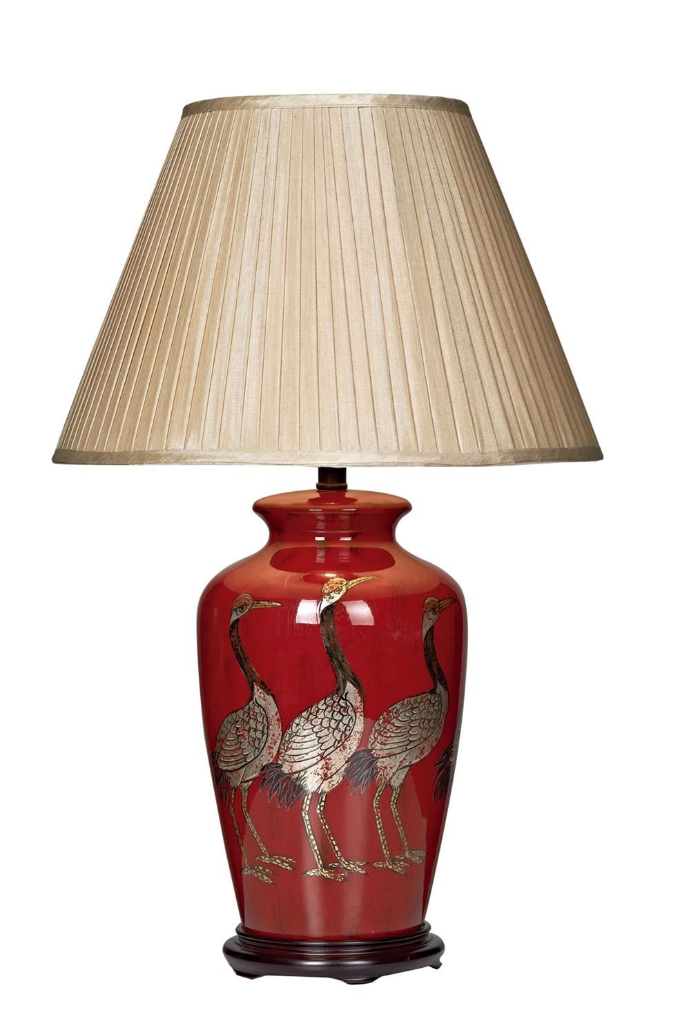 Red Bases For Living Room Decor: BER4225 Bertha Table Lamp Base Only In RED Deep Red