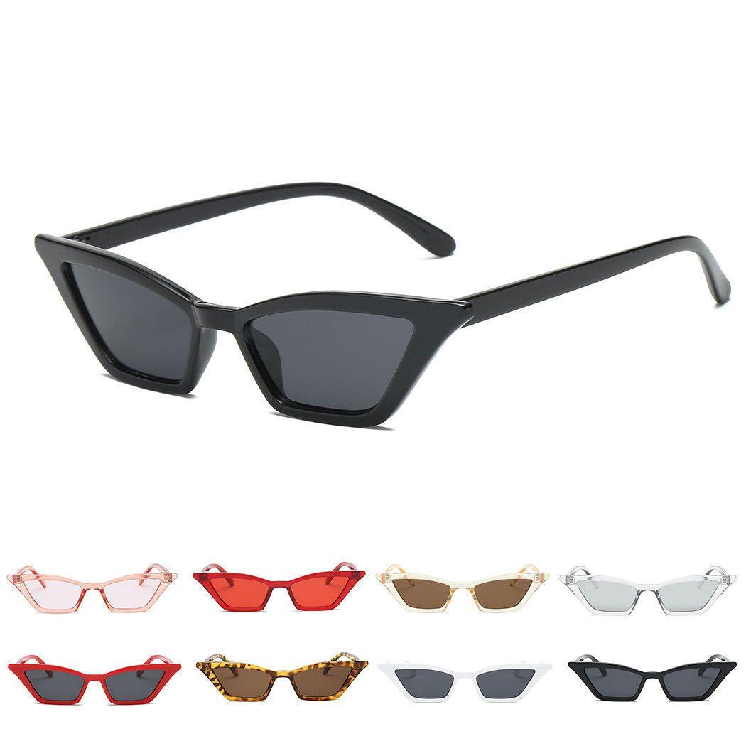 1e4bcab3e21ff Retro Small Cat Eye Sunglasses Rectangle Steampunk Rivet Women Fashion  Shades Cn