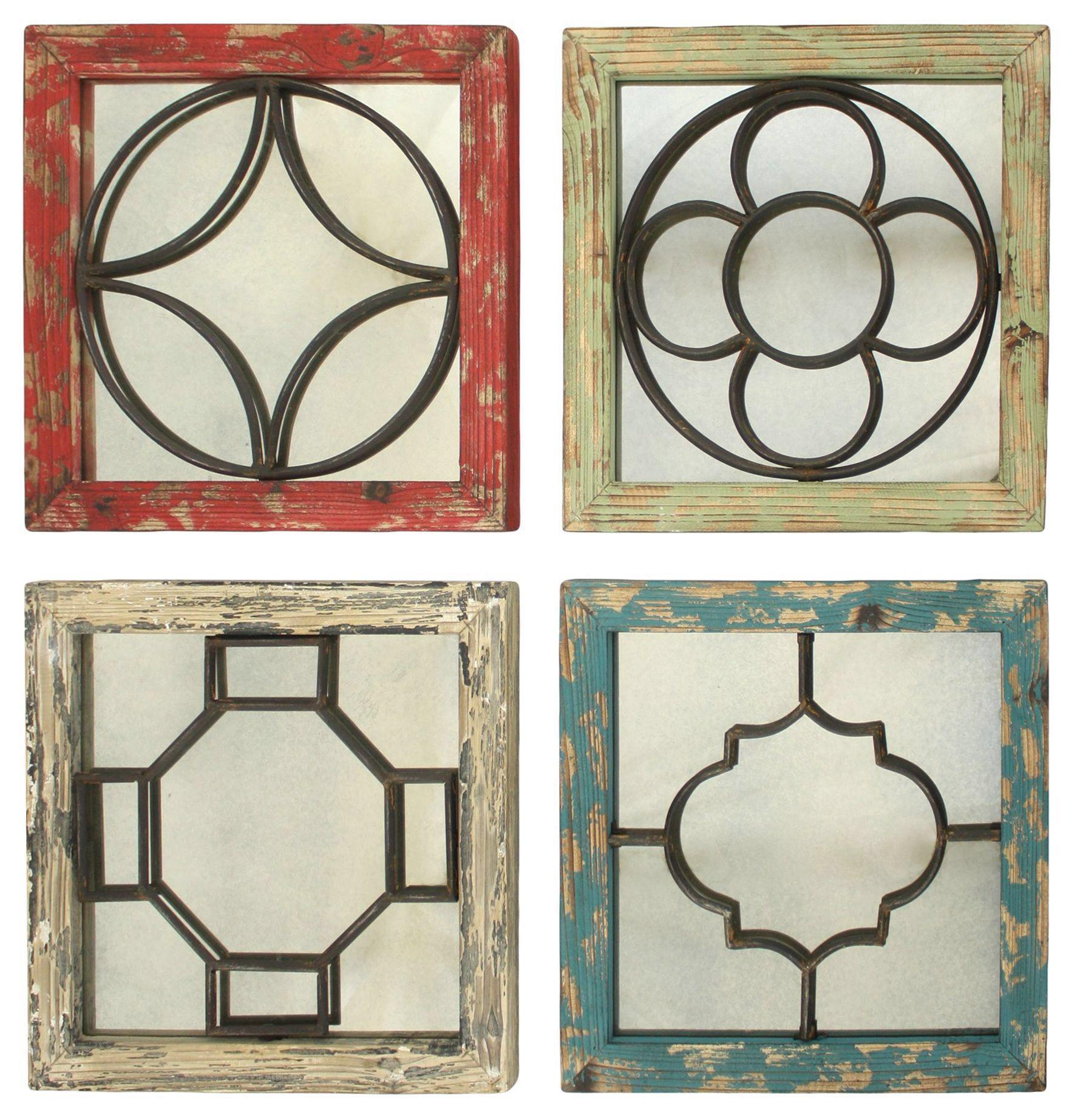 Ellison 4 Piece Distressed Mirror Set
