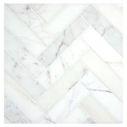 Complete Tile Collection 1 1 2 X 6 Herringbone Harmony Micro Joint Mosaic Polished Calacatta Gold Interiordes Calacatta Gold Stone Mosaic Tile Calacatta