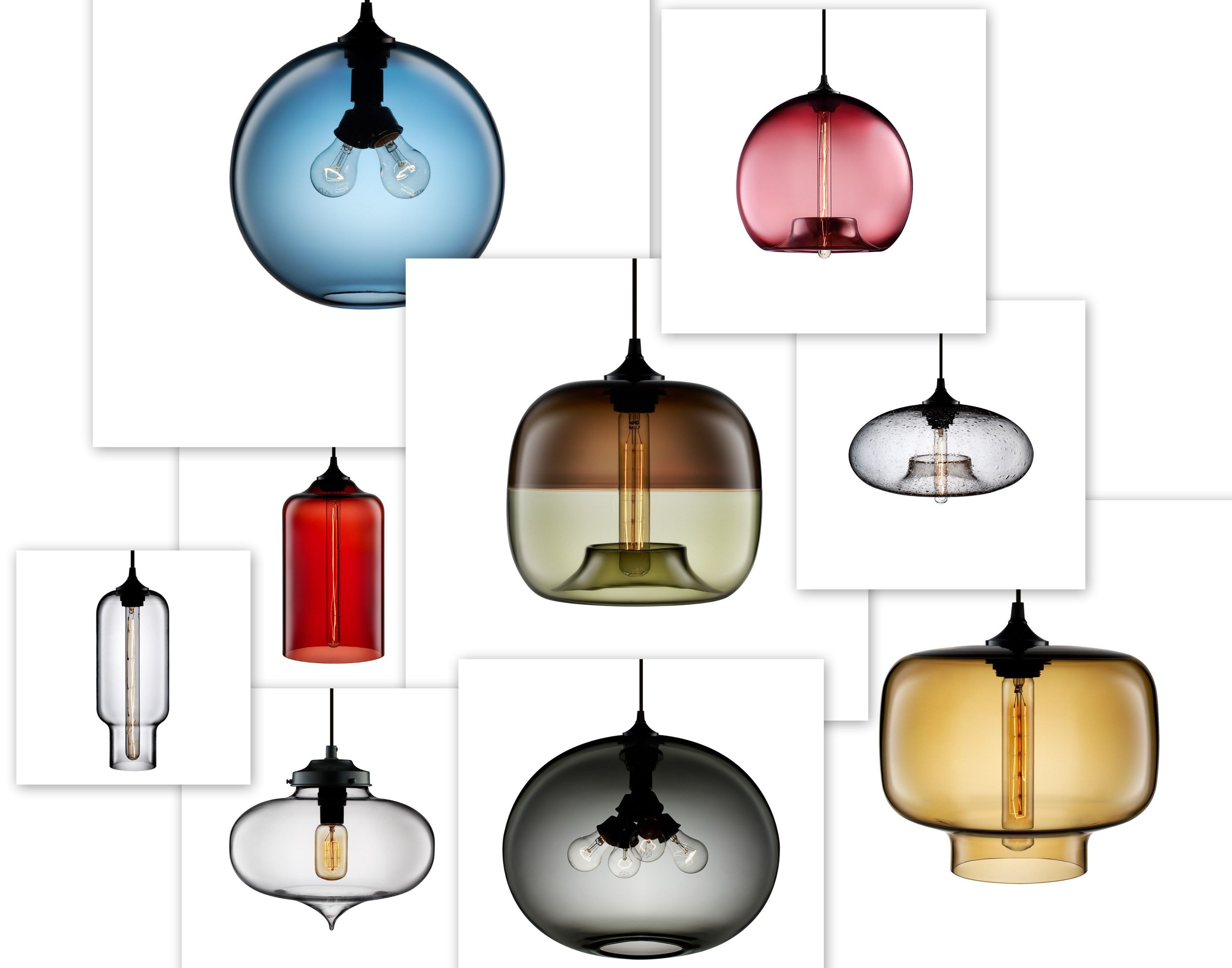 Hand blown glass pendant lights the pride of niche glass pendants glass pendant lights collage by niche modern they have a selection at prices aloadofball Image collections