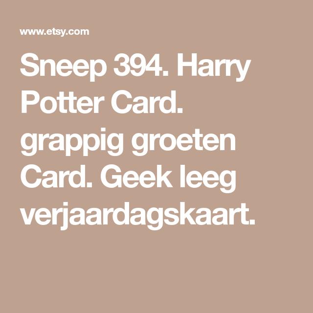 Beroemd Harry Potter Verjaardagskaart - ARCHIDEV &ZA64