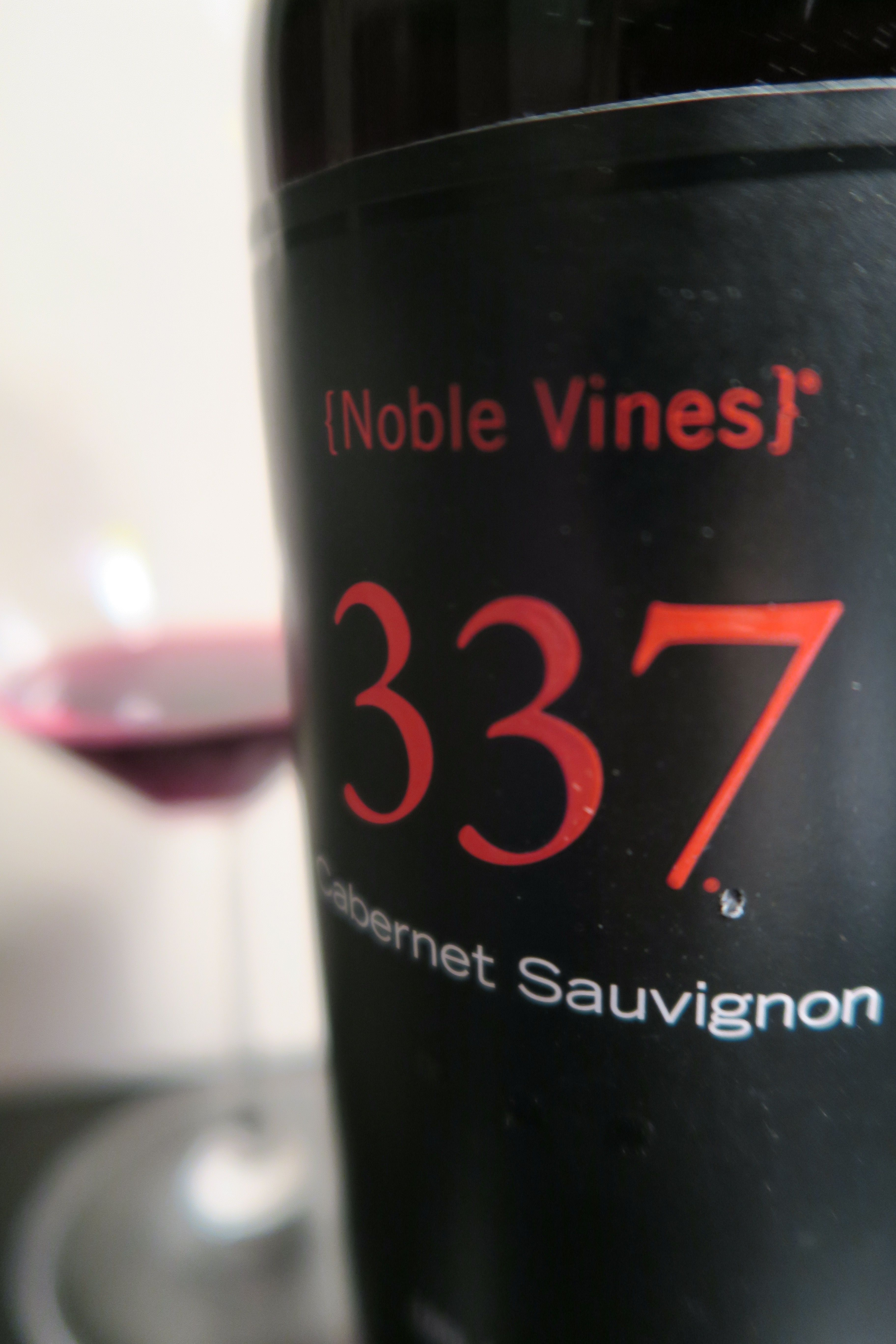 Noble Vines 337 Cab - who knew it would be good!  10$!  Check out the review at - http://winegirlgonewild.com/2015/12/16/holiday-wine-haul-noble-vines-337/