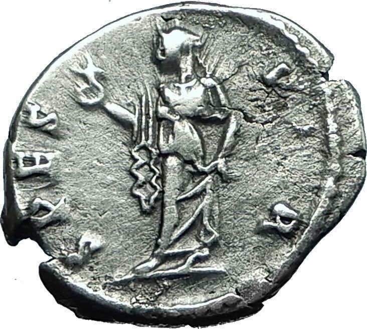 HADRIAN 118AD Silver Rare Authentic Ancient Roman Coin