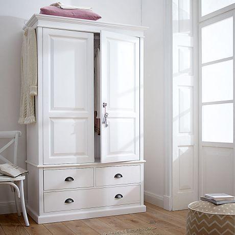 Kleiderschrank, weiß lackiert mit Antikfinish. | IMPRESSIONEN ...