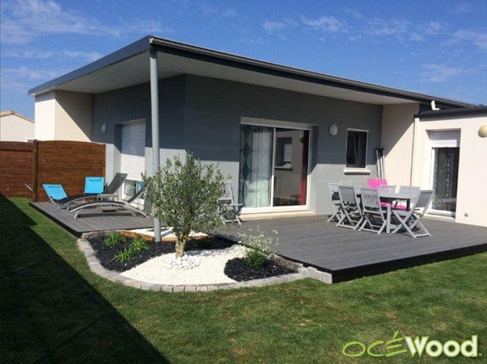 petite terrasse de jardin contemporaine grise rose et bleu terrasses ocewood terrasse. Black Bedroom Furniture Sets. Home Design Ideas