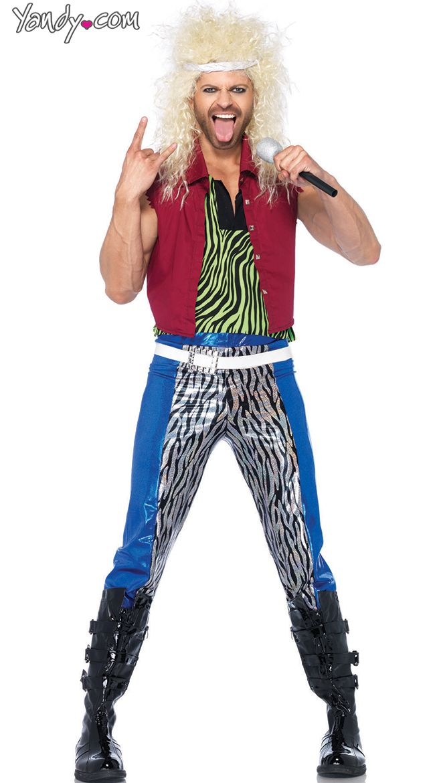 Menu0027s 80u0027s Rocker Costume  sc 1 st  Pinterest & Menu0027s 80u0027s Rocker Costume | Rockers 80 s and Costumes