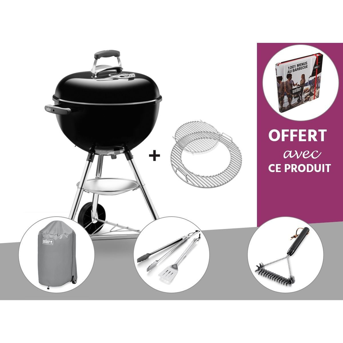 Barbecue A Charbon Weber Bar B Kettle Gbs 47 Cm Noir Housse Kit Ustensile Brosse Livre Offer Taille Taille Unique In 2019 Products Barbecue A C