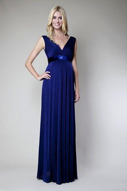 Zwangerschapskleding Gala.Anastasia Gown Maxi Dress Blue Zwangerschapstrouwkleding
