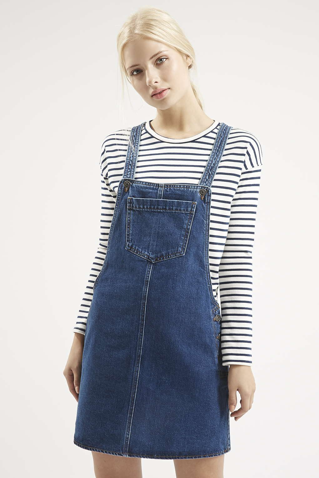 5b6be754460 Photo 3 of MOTO Denim Pocket Pinafore Dress
