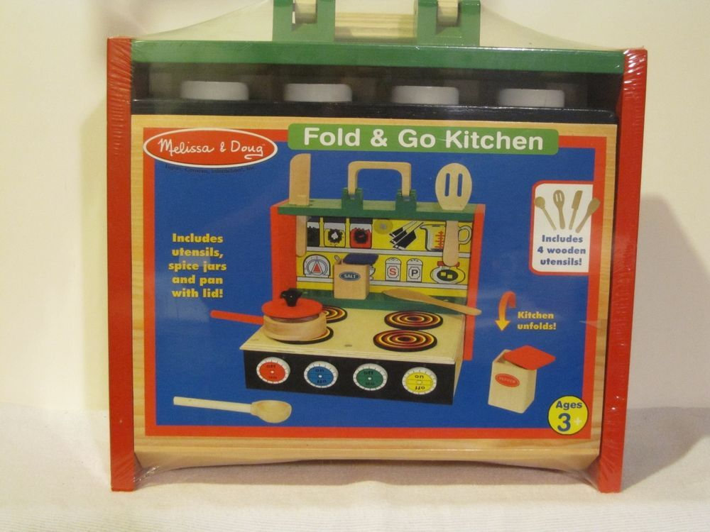 New Melissa And Doug Fold And Go Kitchen For Ages 3 And