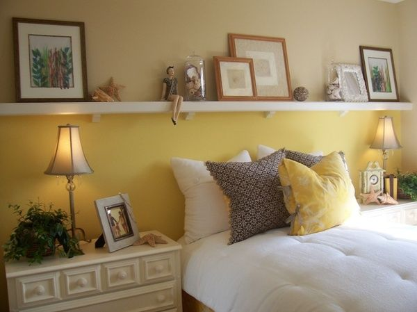 Shelf Above Bed Instead Of Headboard For The Home Shelf Above