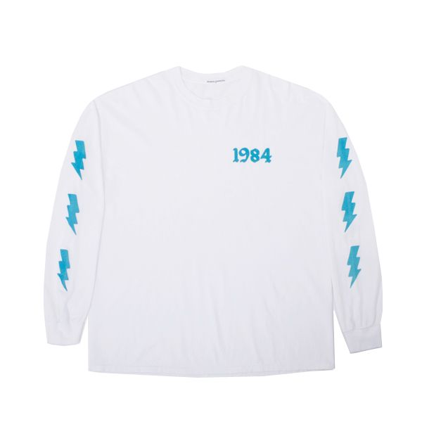 Bianca Chandon 1984 Bolts Flocked Longsleeve T-Shirt - An instant classic,  the new