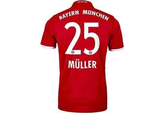 adidas Muller Bayern Munich Jersey - 2016 Bayern Munich Jerseys ...