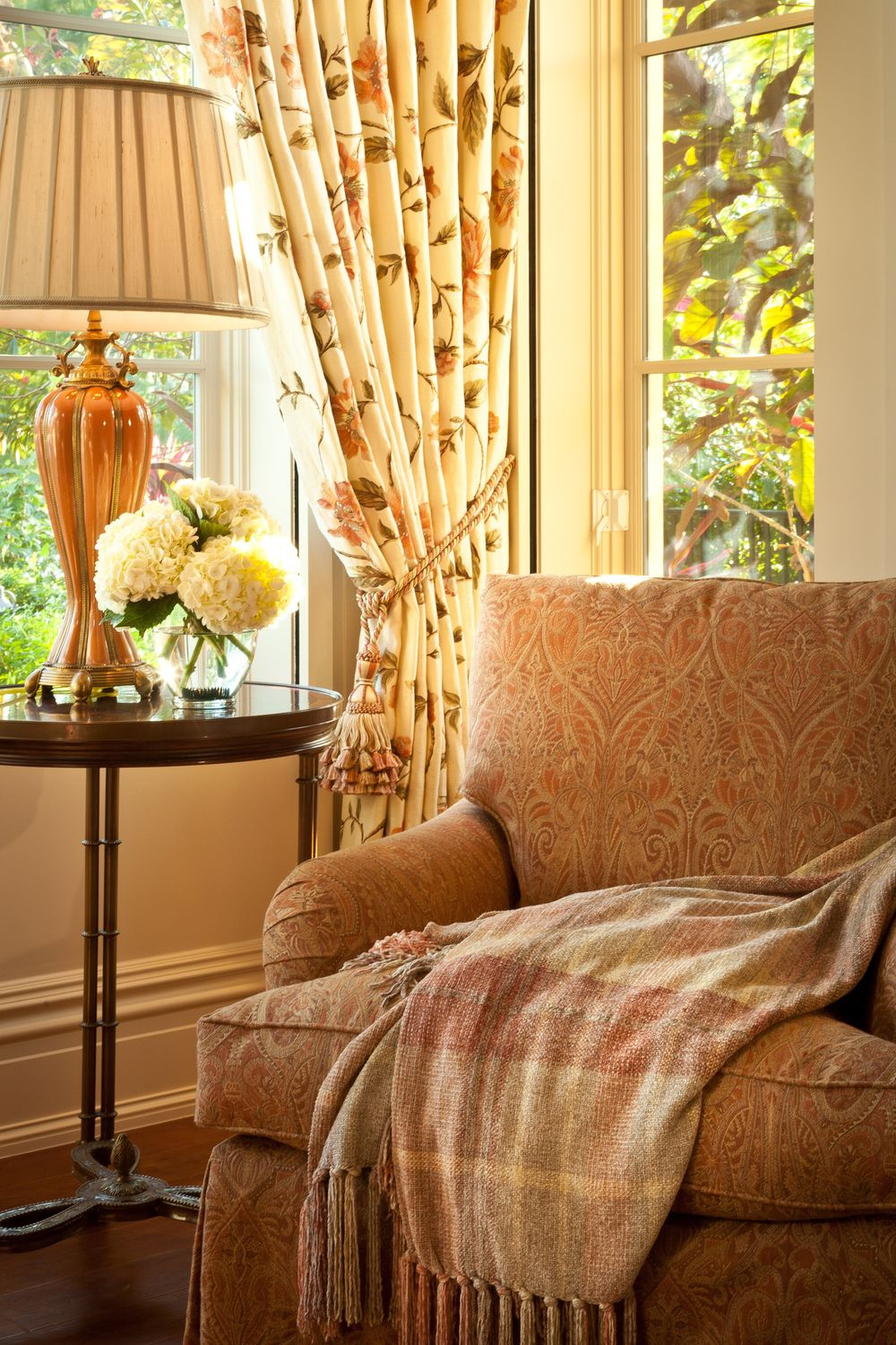 Lovely Autumn Vignette Living Room Warm Country Cottage