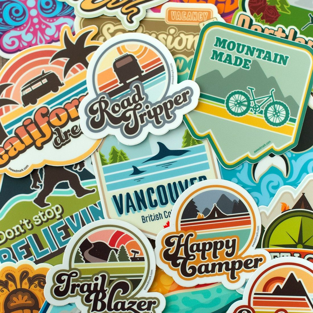 Celebrate national sticker day with some funky retro stickers