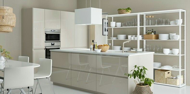 METOD VOXTORP High Gloss Beige, IKEA Kitchen