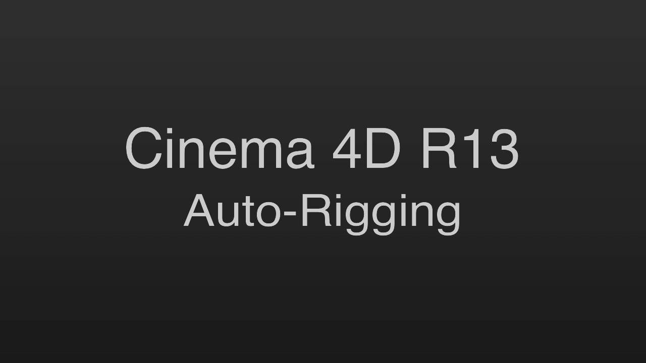 Character Design Cinema 4d Tutorial : Auto rigging using the character object in cinema d r cinema d