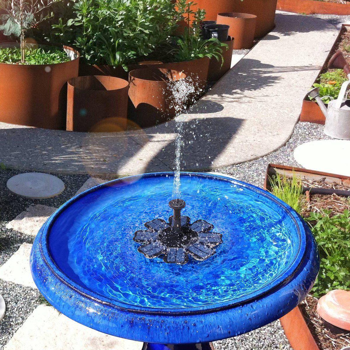Feelle solar powered fountain pump 8v 16w solar panel
