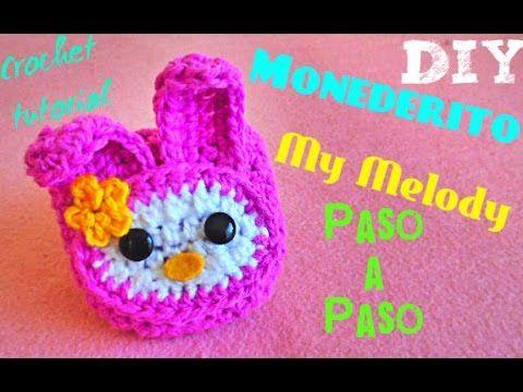 Mini Monedero REDONDO!!! TEJIDO A CROCHET **DIY Crochet MUY FACIL ...