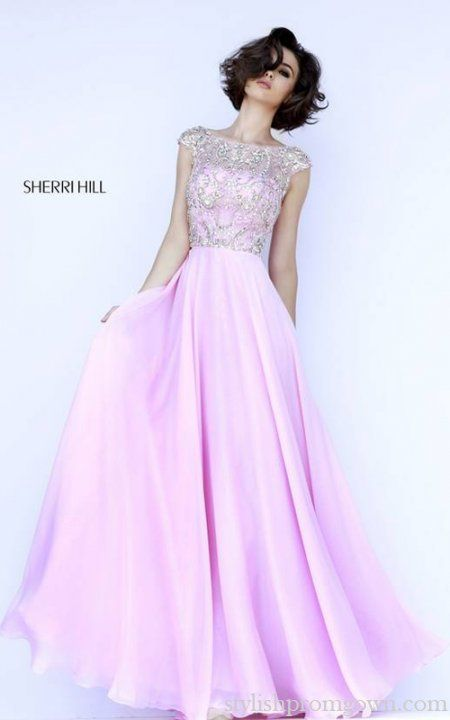 Beads Custom Made Prom Dress 2016 Pink Sherri Hill 32017 | dream ...
