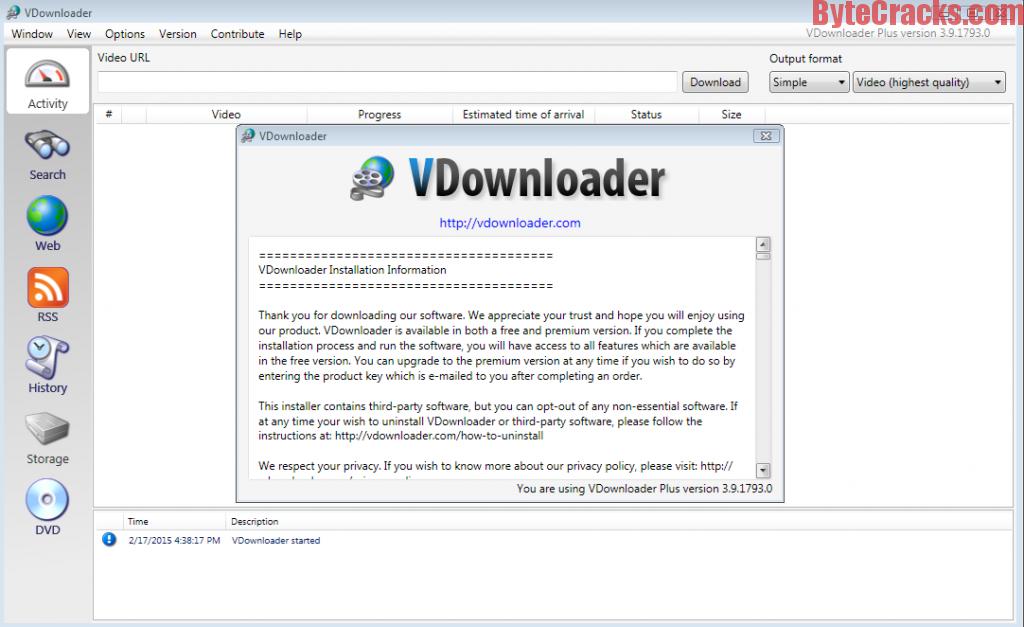 vdownloader plus license key download