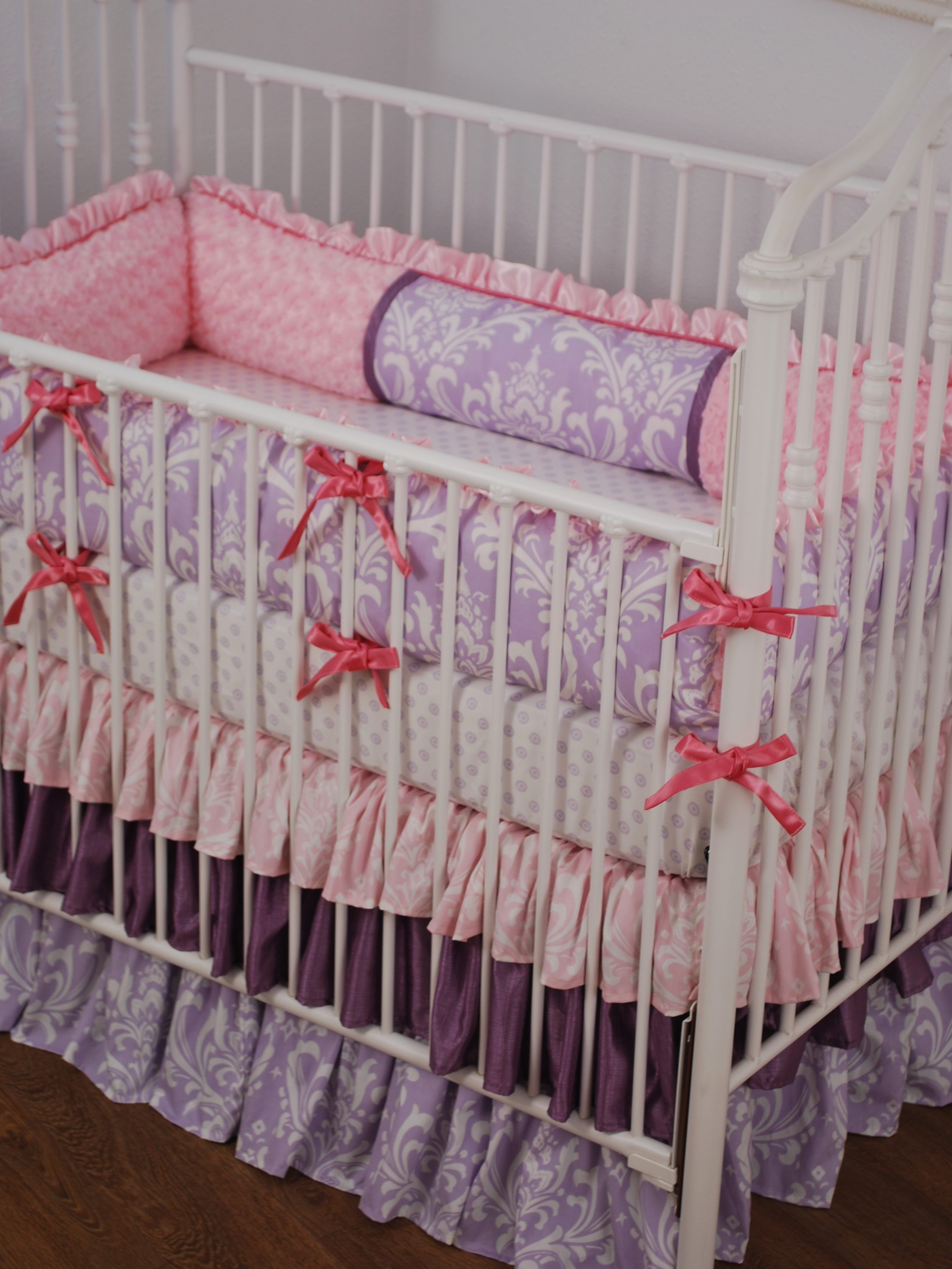 ruffle cribs pk pink american percale crib for amazon baby dust company ca dp