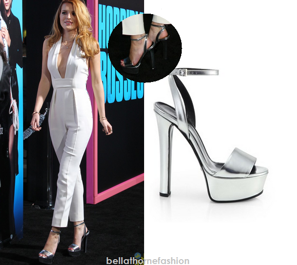 2c9490bf1db Bella Thorne wears these Gucci Leila Metallic Leather Platform Sandals to  the movie premiere for Horrible Bosses at the TCL Chinese Theatre on  November 20th ...