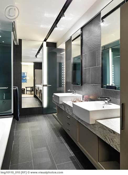 Slate tile floor. Love the fact it\'s not your common square tile ...