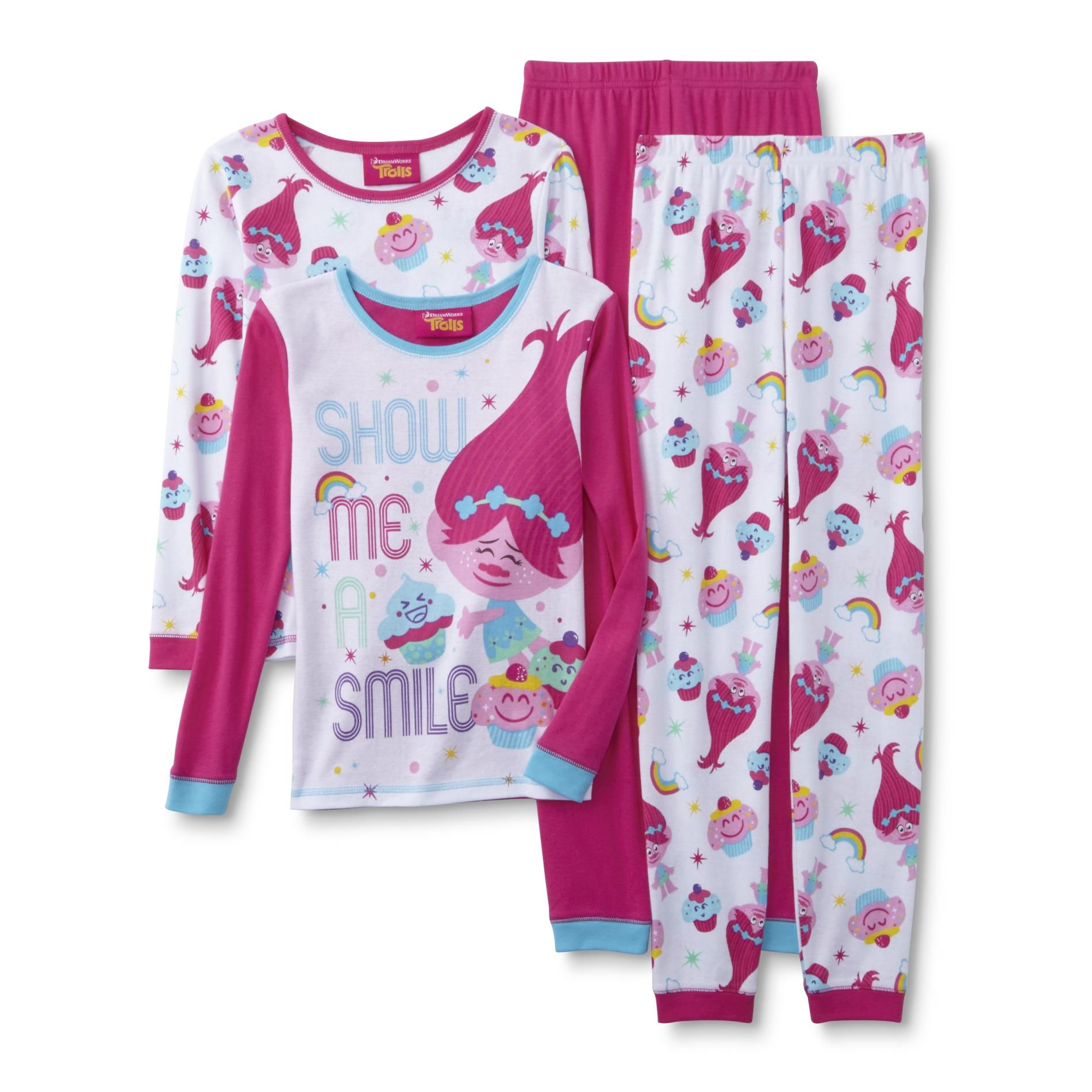 Dreamworks Trolls Girls 2 Pairs Long Sleeve Pajamas Online Kids Clothes Cool Kids Clothes Fall Trends Outfits