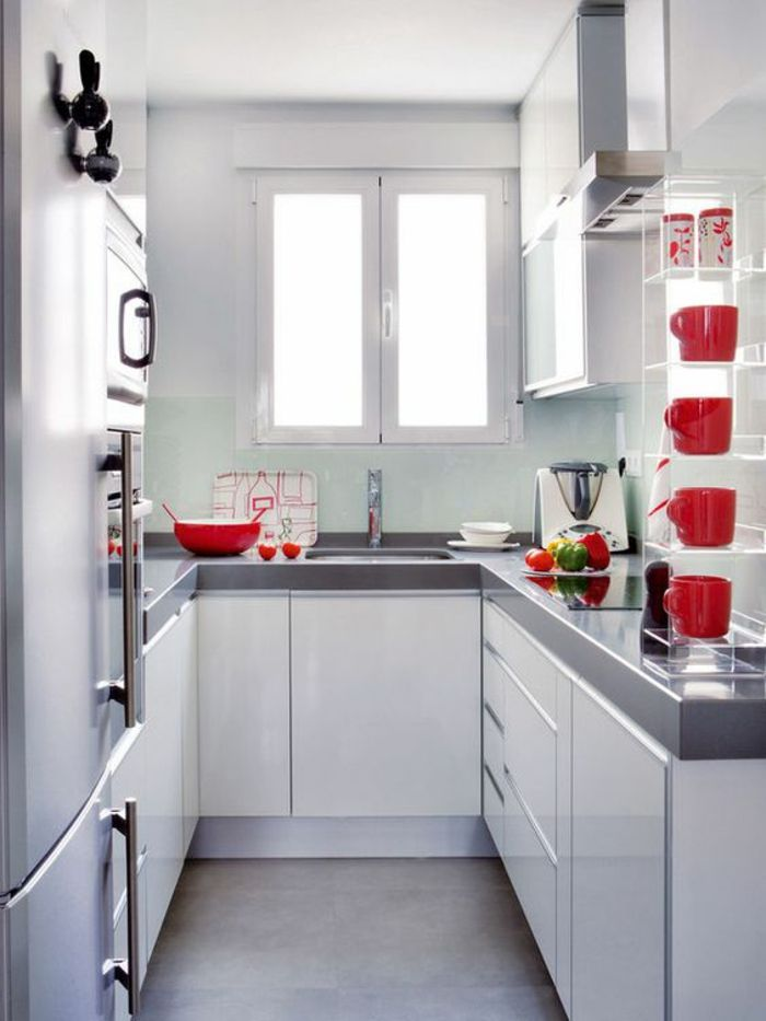 1001 id es pour une petite cuisine quip e des int rieurs gain de place cuisine pinterest. Black Bedroom Furniture Sets. Home Design Ideas