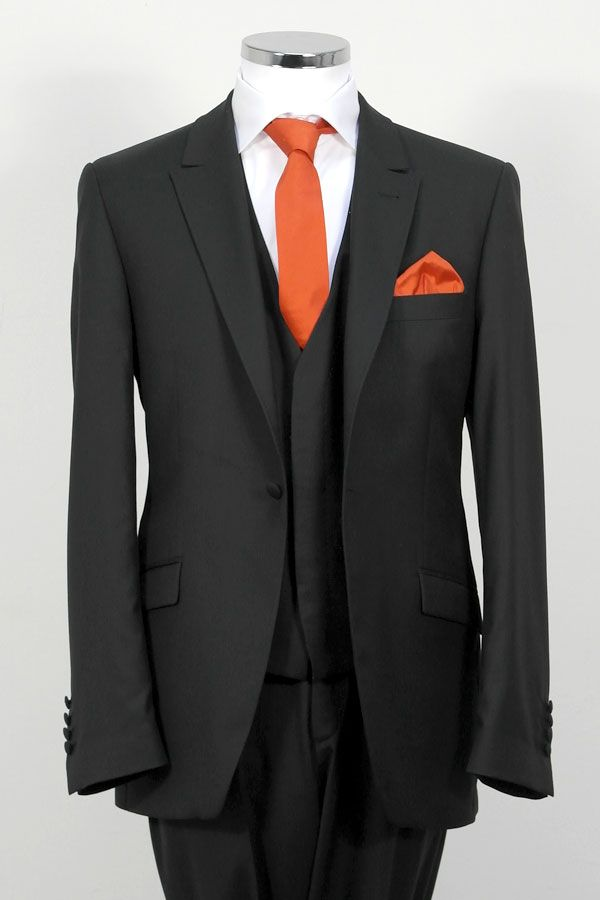 suit with orange tie wedding rings �� pinterest