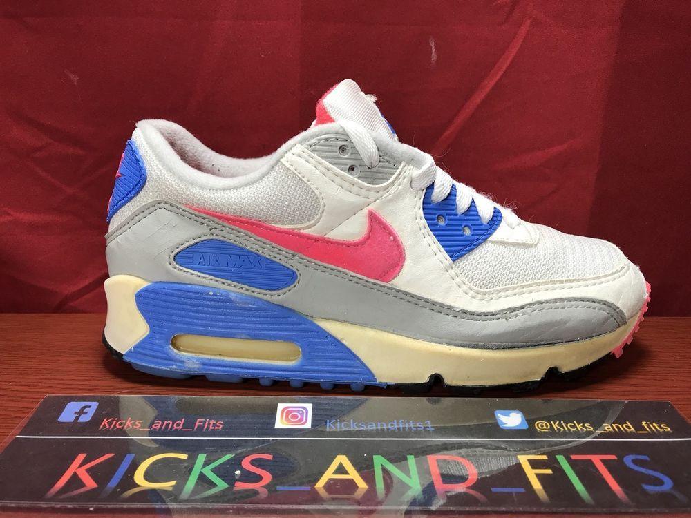 Vtg OG 1990 Nike Air Max 90 Original Sz 7.5 Womens 6 Mens ...