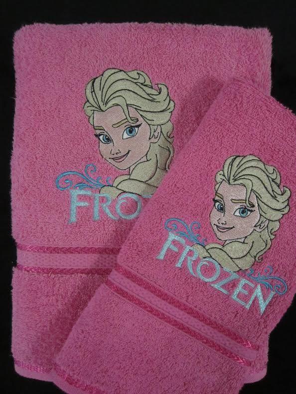 Frozen elsa embroidered bath towel cartoon embroidery