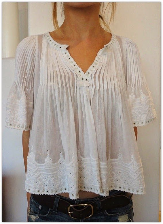 89b91e089c22dd Art Symphony: White Boho Tops Clinging to the last days of Summer ...