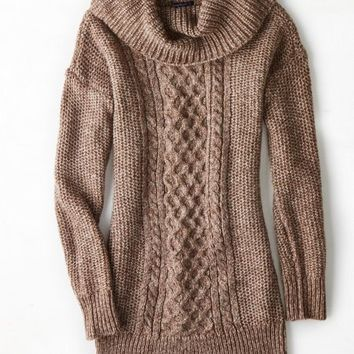 AEO Women's Cowl Neck Jegging Sweater (Heather Brown) | canarıcan ...