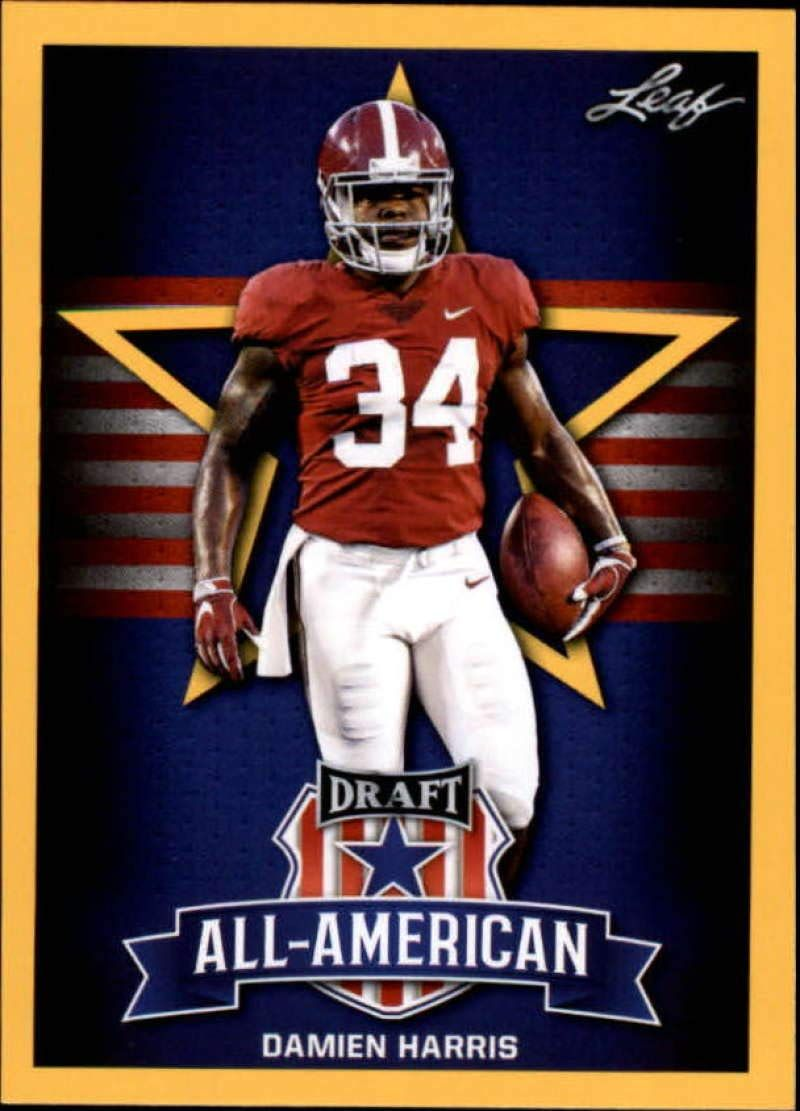 Amazon Com 2019 Leaf Draft Gold 77 Damien Harris Nm Mt Super Bowl Day Happy Super Bowl Sunday Super Bowl Nfl