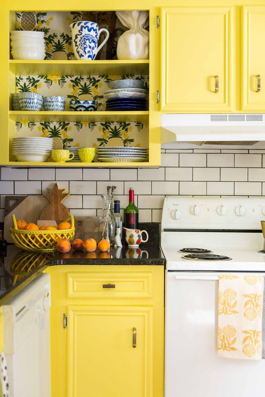 amanda louise interiors yellow kitchen photo by luke